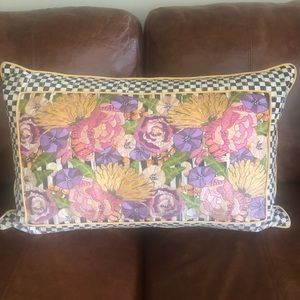 MacKenzie  Childs Flower Courtly Checked Pillow